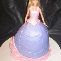 Barbie Birthday Buttercream with mmf accents