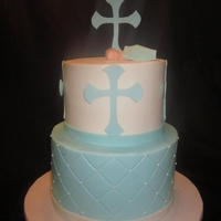 Baptism Buttercream with MMF accents