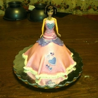 Barbie Cake I did this in one day very last minute but I think it came out Saucy! lol