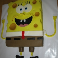 Spongebob 2Nd Cake I Ever Made This is the 2nd cake I ever made. I also made the fondant and colored it (not mm fondant)Not able to post the first one due to the 600x600...