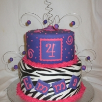 Pink Purple Zebra With Swirls & Dots Zebra stripes hand painted