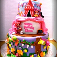 Lalaloopsy Theme This cake has 7 different themes according to the lalaloopsy doll. cake is 12 in manderin, 8 in banana strawberry, and 6 in oreo cookie....