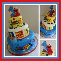 1St Birthday For Twinkies This Cake Was So Much Fun To Make Covered In Mmf Elmo And Fish Also Made With Mmf Tfl *1st birthday for twinkies, this cake was so much fun to make, covered in mmf. elmo and fish also made with mmf. tfl