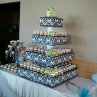 Wedding Cupcakes, Plus Stand This was 250 cupcakes. The stand was made by a friend of the family.