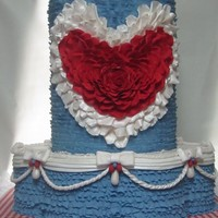 Red White Blue Love i made this cake as an entry to a cake competition that was unfortunately canceled. the theme was patriotic love. The practice was well...
