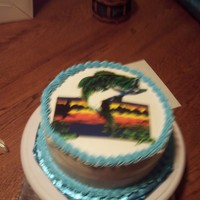 Bass Fishing Cake this cake is all ice cream