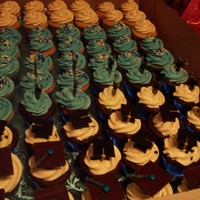 2013 Graduation Cupcakes choc. by death cupcakes, strawberry, and rootbeer flavors, did this for a lock in after graduation party