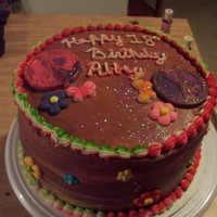 Peace Cake my daughters 18th birthday cake, i tell her she is my free bird no care in the world, inside the cake is tie-dye with buttercreame iceing
