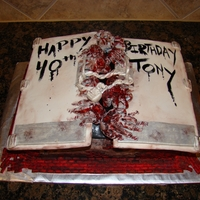 The Walking Dead Cake All fondant, hand painted.