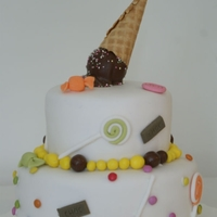 Ice Cream And Candy Cake