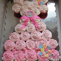 Princess Dress Cupcake Birthday Cake