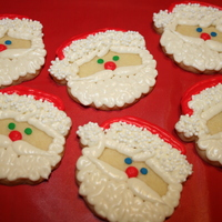 Sugar Cookie Santas Sugar cookie Santas!