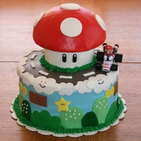 Mario Cake Inspired by so many cute versions I've seen on here! Thanks!!!!