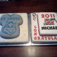 Mhs Graduate Heading Off To St.louis University These cakes were made for a guy who graduated from Muskego High School and was heading off to St. Louis University in the Fall. I...