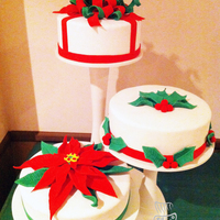 Three Christmas Cakes Three cakes made for our family Christmas party. Top cake was lemon cake with lemon curd and lemon buttercream. Middle cake was eggnog cake...