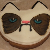 Grumpy Cat Frosted Sugar Cookie Not My Original Design An Other Very Talented Baker Came Up With It And I Had A Client Request Them Grumpy Cat frosted sugar cookie, not my original design an other very talented baker came up with it and I had a client request them.