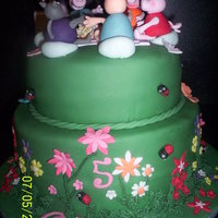 Peppa Pig's Picnic Made for a little girl who's mad on Peppa Pig. Vanilla sponge with Indy Debie's buttercream. Covered in fondant with fondant/...