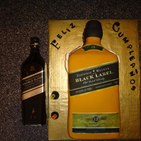 Johnnie Walker Black Label Bottle Cake