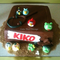 Angry Birds Cake This cake idea cake from a very talented cake decorated on here.. Can't remember the name at the moment, but thank you for the...