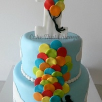 Balloon Cake This cake truly touched my heart. The customer is a single mom who wanted the cake to symbolize her journey with her baby in his first year...