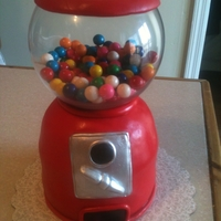 Gumball Machine Cake I was so inspired by so many great ccers, that I just had to make one of my own. This cake was pretty easy to make. I used a wiltons half...