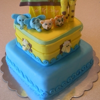 Noah's Ark Cake This cake was inspired by the Wilton's decorating book. I made it for a friends baby shower. All edible. I hope you like it. Tell me...
