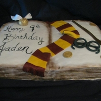 "Harry Potter Cake Harry Potter ""Book of Spells"" with fondant and gumpaste decor"