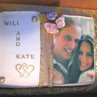 William And Katherine I did this book cake for a tea party held in honour of the royal wedding. Vanilla cake covered in buttercream with an edible image,...