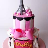 Paris-Themed Birthday Cake I made this Parisian-themed birthday cake for my daughter's seventh birthday. I got inspiration from several photos on this site. Had...