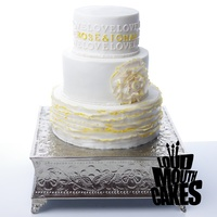 Dainty Little Cake For An Informal Reception For A Lovely Couple Who Got Married Overseas And Wanted To Celebrate Their Nuptials With Their... Dainty little cake for an informal reception for a lovely couple who got married overseas and wanted to celebrate their nuptials with their...