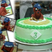 Clifford, Child Birthday Cake chiffon cake with buttercream, marzipan decorations