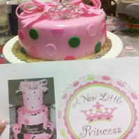 A New Little Princess (Test Run) This is my test run for the actual cake I will be making in June it will be double the height with a plaque of the baby girls name. The...