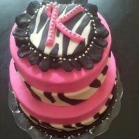 Zebra Stripe Shower Cake