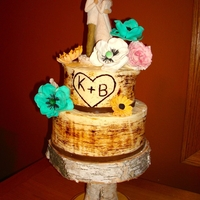 Birch Bark Wedding Cake The original plan for this cake was to have butter cream all over. However, the wedding was an outdoor wedding and the forecast was to be...