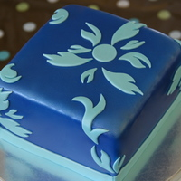 Blue Themed Cake