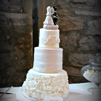 Vintage Romance This was cake was alternated layers chocolate and peanut butter silk cake, filled with alternating layers chocolate ganach and peanut...
