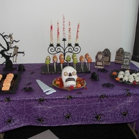 Halloween Desert Table Deserts I made for my co-workers for Halloween