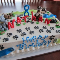 Doggie Prints Buttercream with fondant/tylose decorations ( watched youtube Aine2 video for pups) she's amazing,love her sharing her gift. :) TFL