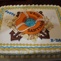 Uscg Cake   Buttercream frosted with fondant decorations.TFL