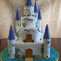 Castle For A Princess   My inspiration comes from Jessicakes.TY- Fondant covered fondant/tylose decorations. TFL