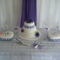 Wedding Cake   This cake was for my sister wedding. She love the purple color.