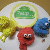 Sesame Street Cake A first birthday cake request. My first attempt at RK figures.