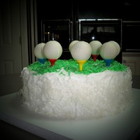 Golf Ball Cake Pops On Cake Coconut Cake with Coconut GOLF BALL CAKE POPS
