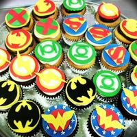 Superhero Cupcakes Super Hero inspired birthday cupcakes
