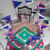 Baseball Staduim Birthday Cake baseball stadium
