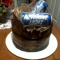 Bucket Of Beer this was my frist cake trying to make the sugar glass, it's chocolate cake with fondant, and gumpaste boards that i airbrushed, the...