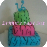 Sweet 13 Birthday Cake this is and 3 tier marshmellow fondant cake, with a tilted top!