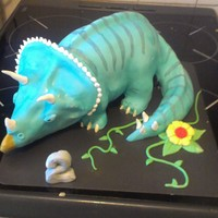 Triceratops Dinosaur A dinosaur I made for my sons second birthday