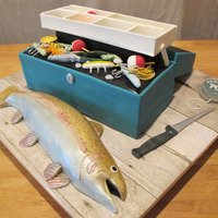 Tackle Box With Rainbow Trout