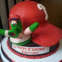 A Phanatic Birhtday!!   This cake was a lot of fun to do for a little Phillies fan!